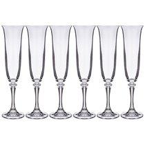 Набор бокалов для шампанского из 6 шт. BRANTA 175 МЛ ВЫСОТА=23,5 СМ (КОР=8Набор.) - Crystalite Bohemia