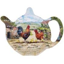 Подставка под чайный пакетик Lesser & Pavey Петушиное семейство 13x10см - Lesser & Pavey