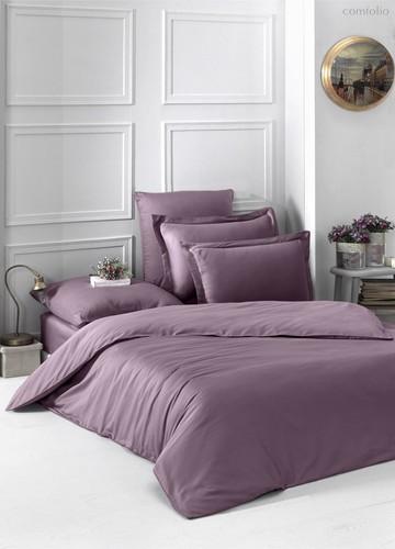 Постельное белье Karna Loft, однотонное, цвет лиловый, размер 1.5-спальный - Karna (Bilge Tekstil)
