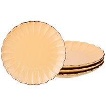 Набор Тарелок Из 4 шт. Диаметр 21 см, цвет желтый, 21 см - Zeal Ceramics