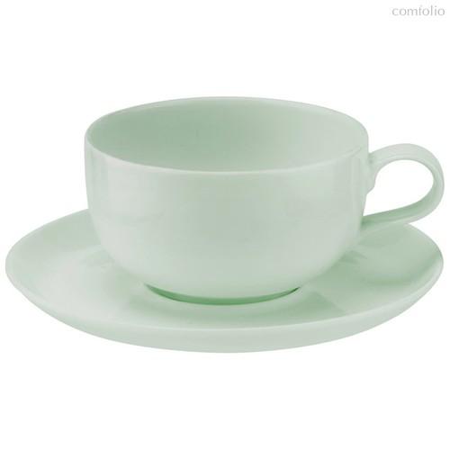 """Чашка чайная с блюдцем Portmeirion """"Выбор Портмейрион"""" 340мл (зеленая) - Portmeirion"""
