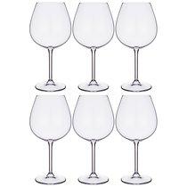 Набор бокалов для вина из 6 шт. GASTRO/COLIBRI 650 мл ВЫСОТА 22 см - Crystalite Bohemia