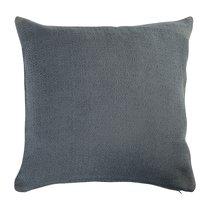 Подушка декоративная из хлопка фактурного плетения темно-серого цвета из коллекции Essential, 45х45 - Tkano