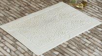 """Коврик махровый """"KARNA"""" ESRA (50x70) см 1/1, цвет кремовый, 50x70 - Bilge Tekstil"""