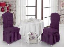 """Чехлы на стулья 1/2 """"BULSAN"""", цвет фиолетовый - Bulsan"""