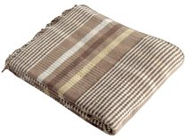 "Плед KARNA хлопок ""KRAL"" 150x240 см, цвет коричневый, 150 x 240 - Bilge Tekstil"