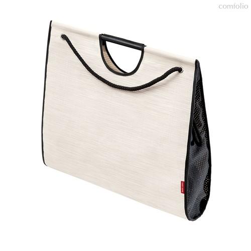 Сумка-шоппер Large, 50х16х45 см, белая с черным - Casy Home