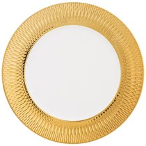 Тарелка Закусочная Bronco Crocus 22 см Золотая - Porcelain Manufacturing Factory