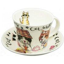 Чайная пара для завтрака Коты модники 500мл - Roy Kirkham