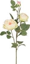 Цветок Искусственный Ветка Розы Длина 74 см - Silk-ka