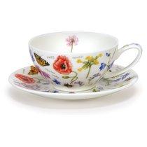 """Чашка чайная с блюдцем Dunoon """"Полевые цветы"""" 250мл - Dunoon"""