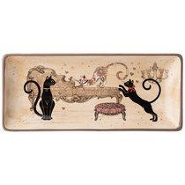 Блюдо Парижские Коты 28x12 см Высота 3 см - Huachen Ceramics