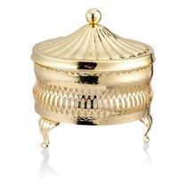 Паштетница круглая с крышкой Queen Anne 11см, сталь, золотой цвет - Queen Anne