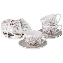 Чайный Набор Lefard White Flower На 6Пер. 12Пр. 330 мл Серый - Jinding