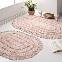 Набор кружевных ковриков Yana, цвет бежевый - Modalin