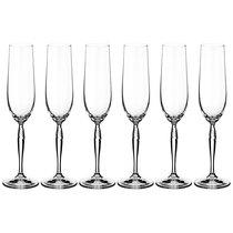 Набор бокалов для шампанского KEIRA 195 мл ВЫСОТА 26 см (КОР 8Набор.) - Crystalex
