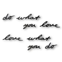Надпись декоративная Do what you love настенная черная - Umbra