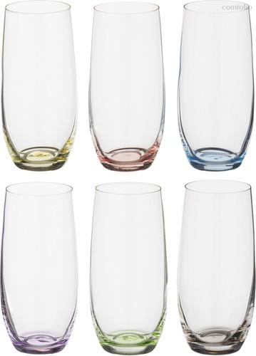 Набор стаканов ДЛЯ ВОДЫ из 6 шт. RAINBOW 350 МЛ ВЫСОТА=15 СМ (КОР=8Набор.) - Crystalex