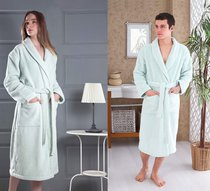 Домашний халат Karna Mora, цвет светло-зеленый, размер L - Karna (Bilge Tekstil)