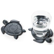 Подставка под стаканы Save Turtle, темно-серый - Qualy