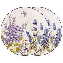 Набор Тарелок Закусочных Прованс Лаванда Из 2 Шт, цвет сиреневый - Meizhou Yuesenyuan