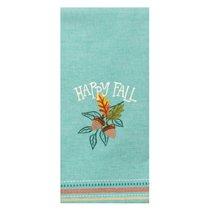 """Полотенце кухонное Kay Dee Designs """"Теплая осень"""" 45х71см, с вышивкой, голубой, хлопок - Kay Dee Designs"""