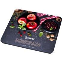 Весы Кухонные Яблоки Hottek Ht-962-038С Отображением Тем-Ры И Времени, МаксВес 7Кг - Keyon