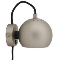 Лампа настенная Ball, d12 см, сатин - Frandsen