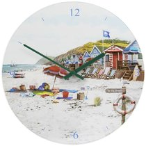Часы настенные Lesser & Pavey Солнечный пляж d30см - Lesser & Pavey