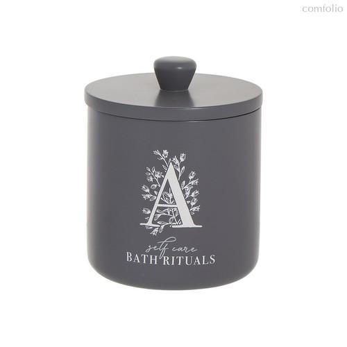 Стакан для ватных дисков Bath Rituals серый, цвет серый - D'casa