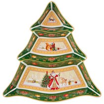 Менажница Christmas Collection 24Х24Х3 см - Jinding