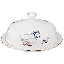 Блюдо Для Блинов Гуси 23,5x23,5x12 см - Kingensin Porcelain Industrial