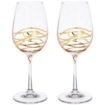 Набор бокалов для вина из 2 шт. SPIRAL 350 мл ВЫСОТА 22 см . (КОР 1Набор.) - Crystalex