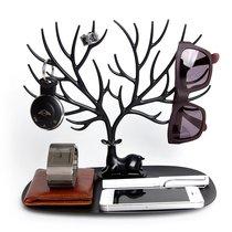 Декоративный органайзер для украшений Deer малый черный - Qualy