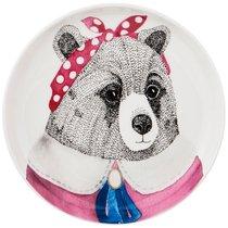 Тарелка Закусочная Fashion Animals Медведица, 19см - Jinding
