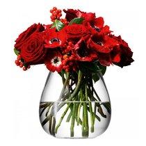 Ваза округлая низкая Flower 17 см - LSA International