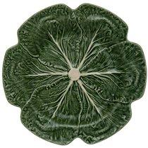 "Блюдо круглое Bordallo Pinheiro ""Капуста"" 30,5см, цвет зеленый, 30 см - Bordallo Pinheiro"