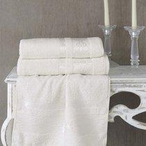 Полотенце махровое Karna Rebeka, цвет кремовый, 70x140 - Bilge Tekstil