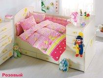 """Постельное белье """"Altinbasak"""" для новорожденных VAK VAK, цвет розовый - Bilge Tekstil"""