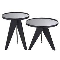 Набор кофейных столиков Carrero зеркальный серебристый, 2 шт. - Berg