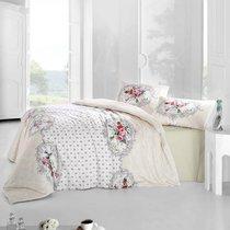 Постельное белье Ranforce Mira, цвет кремовый, размер Евро - Altinbasak Tekstil