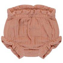 Шорты для новорожденных из хлопкового муслина цвета пыльной розы из коллекции Essential 9-12M - Tkano