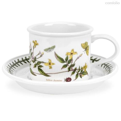 "Чашка для завтрака с блюдцем Portmeirion ""Ботанический сад. Желтый жасмин"" 260мл - Portmeirion"