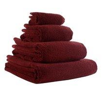 Полотенце банное бордового цвета Essential, 90х150 см - Tkano