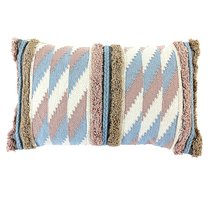 Чехол на подушку с бахромой Ethnic, 30х60 см - Tkano