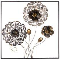 Панно Настенное Коллекция Цветочная Симфония 50,2x50,2x5,7 см - FUZHOU SMART HOME DECORATION