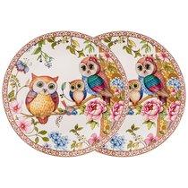 Набор Из 2 Тарелок Закусочных Owls Family 20,5 см - Meizhou Yuesenyuan