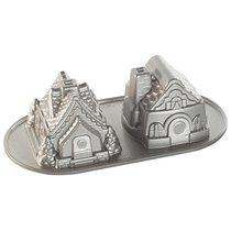 Форма для выпечки Дуэт пряничных домиков, объем 1,1 л (литой алюминий) - Nordic Ware