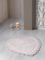 """Коврик для ванной """"MODALIN"""" кружевной SISLEY 60x65 см 1/1, цвет кофейный, 60x65 - Bilge Tekstil"""