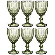 Бокалы для вина Серпентина 6 шт. 300мл Серия Muza Color Высота 17 см - Honkong Maple
